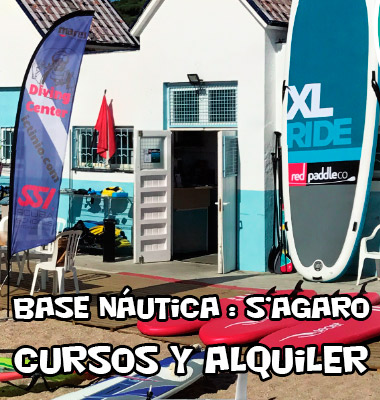 base nautica cursos sup paddle sagaro